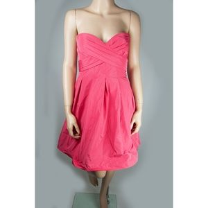 Pink Dress A-Line Straps Padded